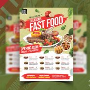 Restaurant Promotion Flyer Design PSD