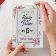 Beautiful Wedding Invitation Card Design PSD