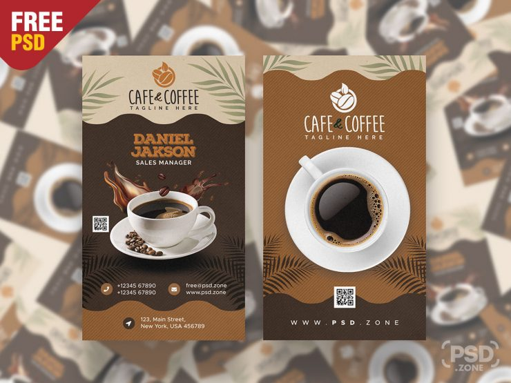 Coffee Shop Business Card PSD