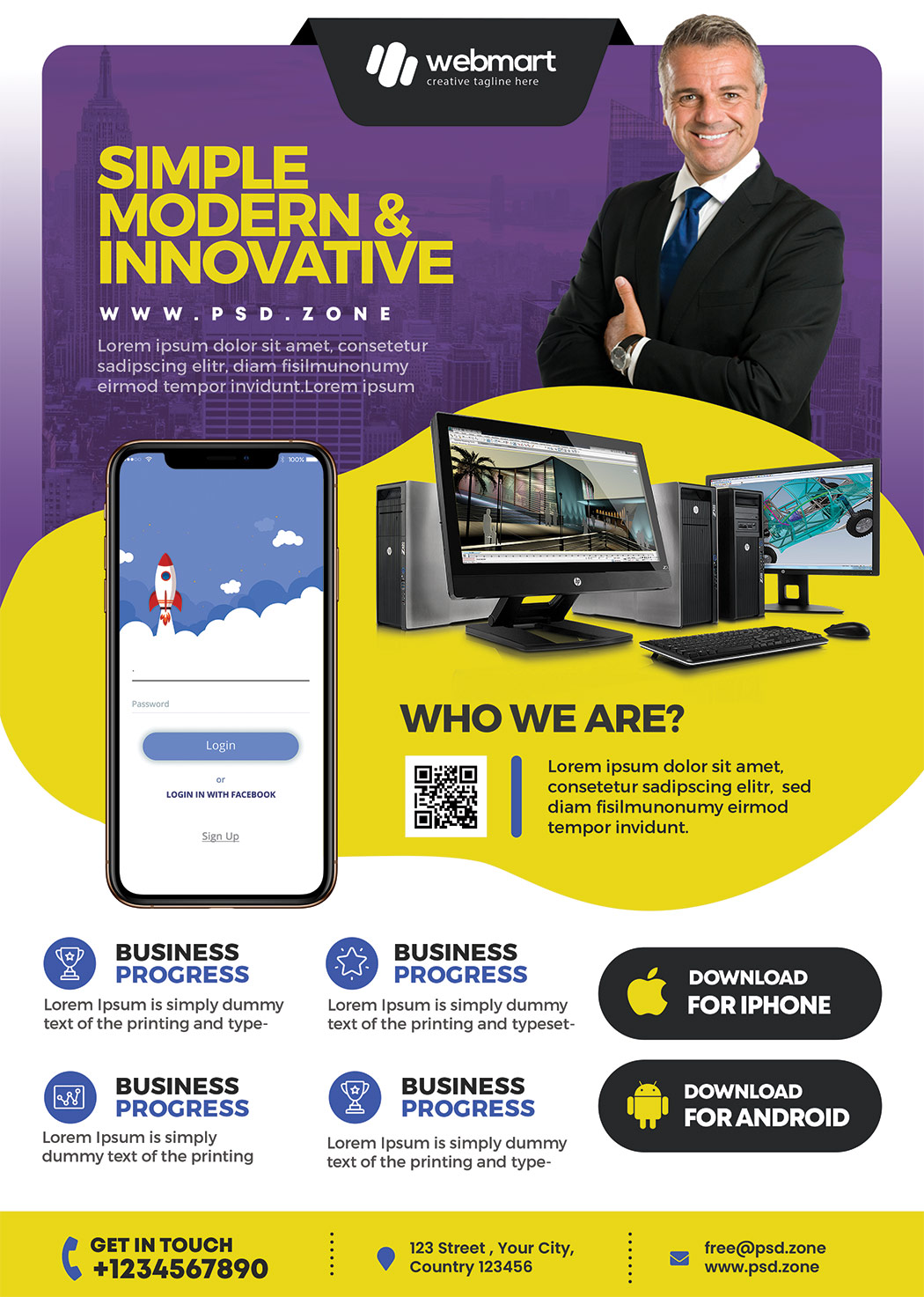 Multipurpose Corporate Business Flyer PSD
