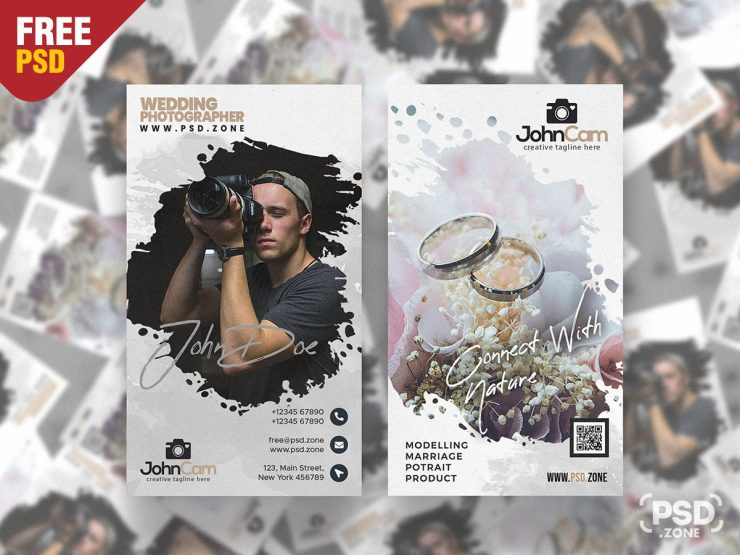 Wedding Photography Business Card PSD Design