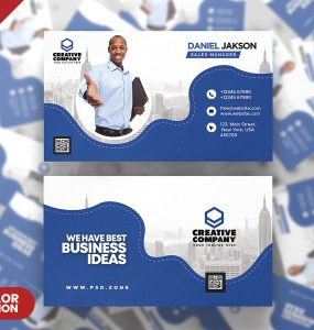 Agency Business Card Design PSD Template