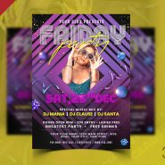 Music Club Friday Night Party Flyer PSD