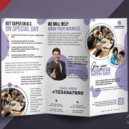 Corporate TriFold Brochure Design PSD