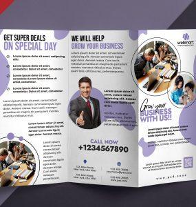 Corporate TriFold Brochure Design PSD