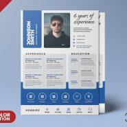 Creative Designer A4 Size Resume PSD Template