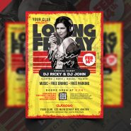 Night Club Event Flyer Design PSD