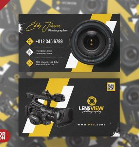 Photography Business Card PSD Template Set