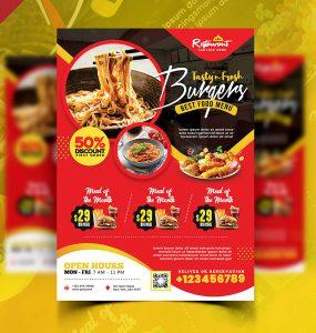 Tasty Food Restaurant Flyer PSD