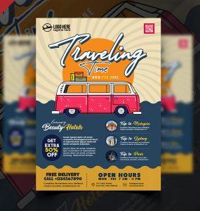 Travel Agency Advertisement Flyer PSD