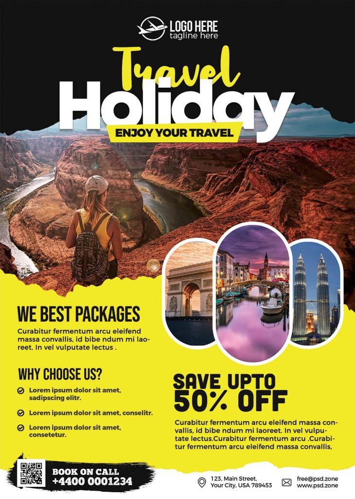 Travel Agency Promotion Flyer PSD - PSD Zone