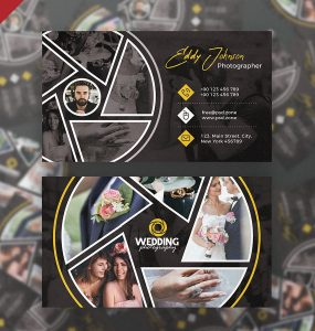 Wedding Photographer Business Card PSD