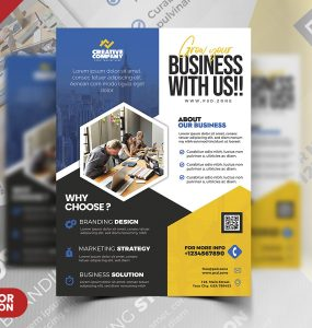 Business Advertisement Flyer Design PSD