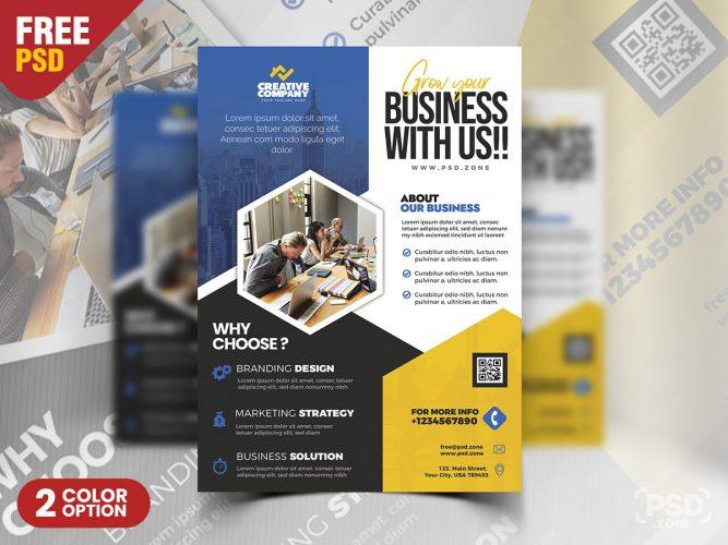 Business Advertisement Flyer Design PSD