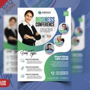 Business Conference Designer Flyer PSD Template