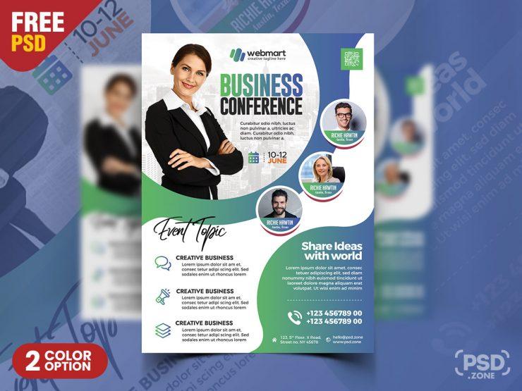 Business Conference Designer Flyer PSD Template