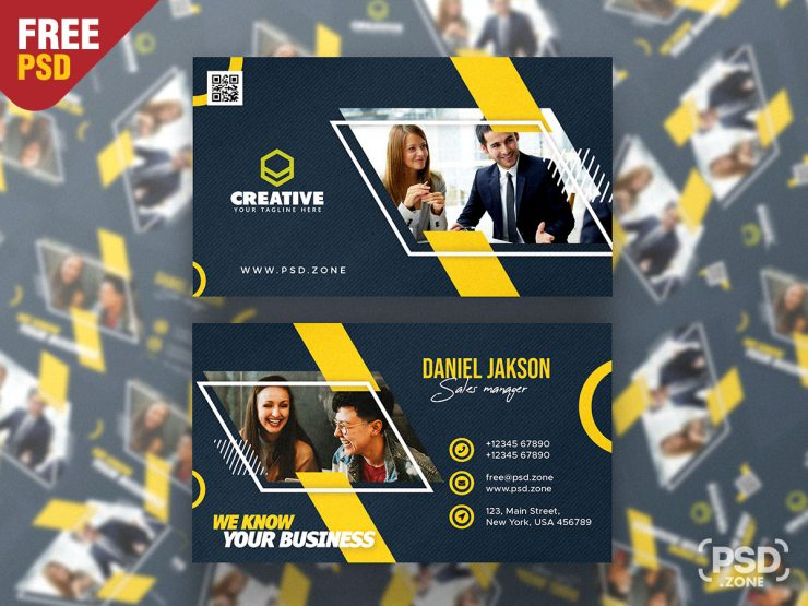 Designer Business Card Premium PSD Template