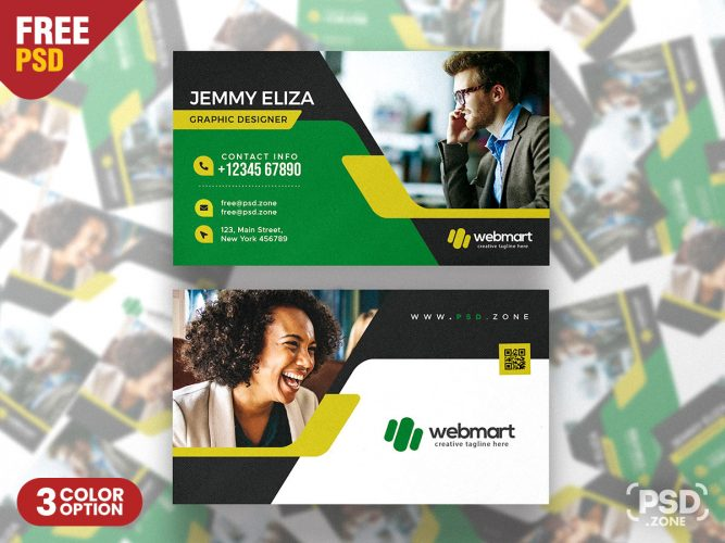 Digital Marketing Company Business Card PSD