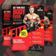 Gym Fitness Promotion Flyer PSD
