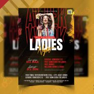 Ladies Night Party Flyer PSD Design