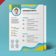 Beautiful and Designer A4 Resume CV PSD Template