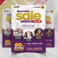 Black Friday Season Sale Flyer PSD