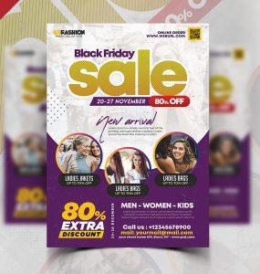 Black Friday Season Sale Flyer PSD