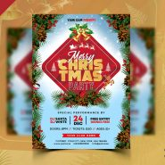 Beautiful Christmas Party Flyer PSD