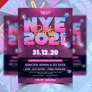 NYE 2021 Party Flyer PSD