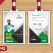 Office Photo ID Card PSD Template
