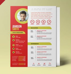 A4 Designer Resume PSD Template