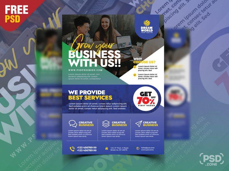 Business Promotion Flyer PSD Design