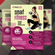 Clean Gym Fitness Business Flyer PSD