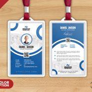 Designer Photo Identity Card PSD Template