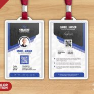 Designer Office Identity Card PSD Template