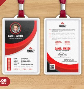 Minimalist Photo ID Cards Template PSD