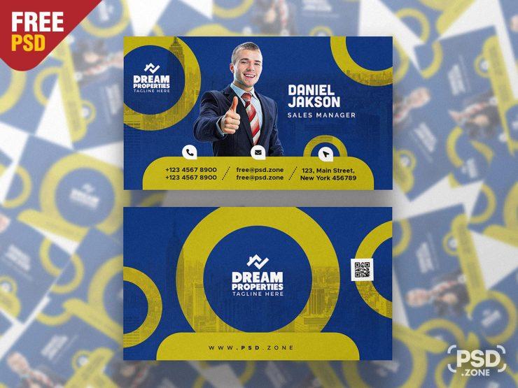Modern and Designer Business Card PSD Template