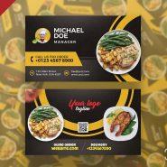 Restaurant Cafe Business Card PSD Template