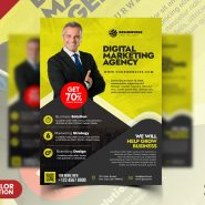 Stylish Corporate Flyer Design PSD Template