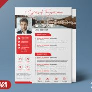 A4 Size Vertical Resume CV PSD Template