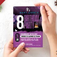 Beautiful Birthday Party Invitation Card PSD