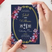 Beautiful Wedding Invitation Card PSD