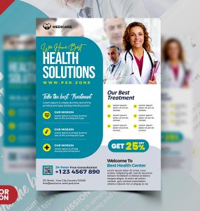Medical Health Care AD Flyer PSD