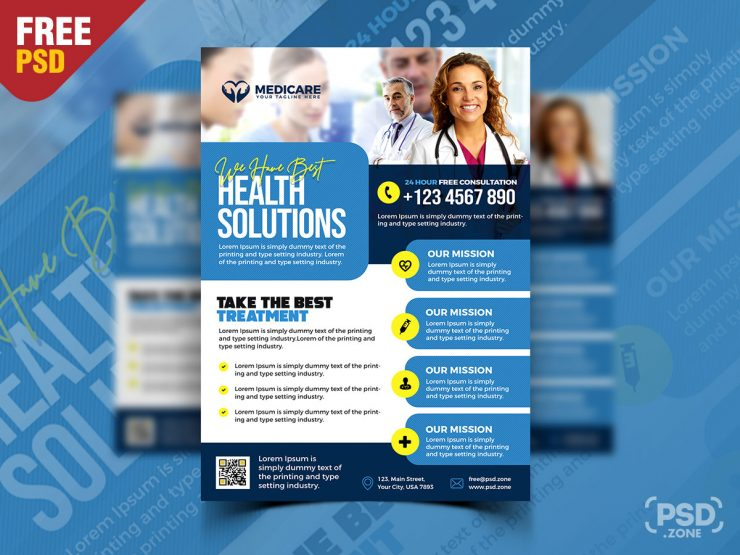 Medical and Health Services Promotional Flyer PSD