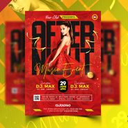 After Night Music Party Event Flyer PSD