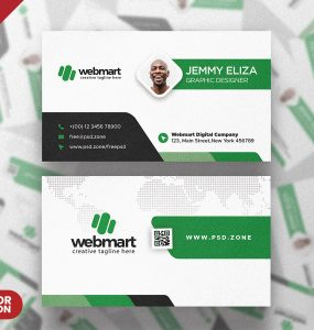Elegant Minimal Business Card Design PSD