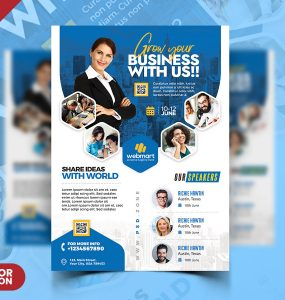 Modern Business Event Seminar Flyer PSD