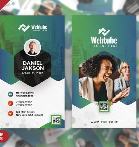 Premium Modern Vertical Business Card PSD