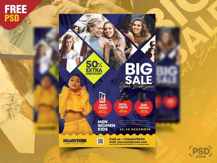 Big Sale Pamphlet Flyer Template PSD