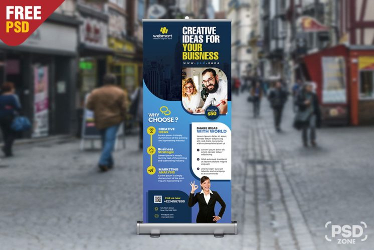 Corporate Creative Business Rollup Banner PSD